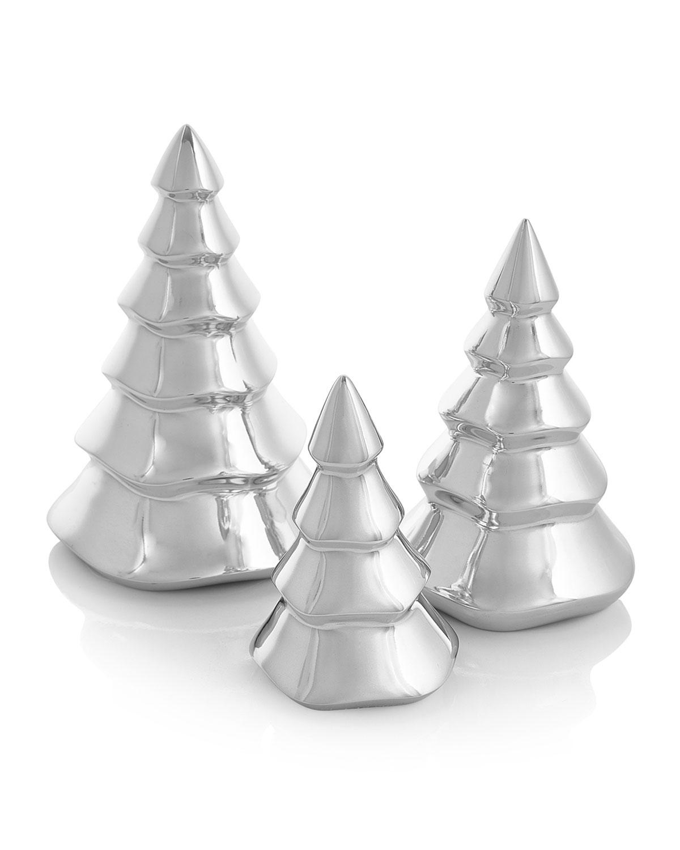 Christmas Tree Trio: Nambe Mini Christmas Tree Figurine Trio