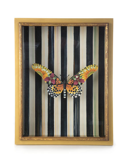 MacKenzie-Childs Monarch Butterfly Shadow Box