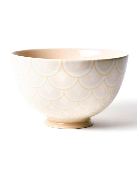 Coton Colors Layered Arabesque Footed Bowl