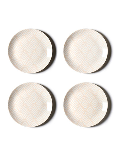 Layered Diamond Dinner Plates  Set of 4