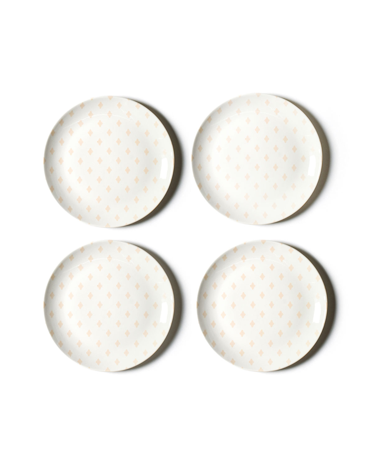 Coton Colors Quatrefoil Salad Plates, Set of 4