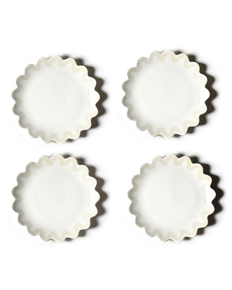 Coton Colors Arabesque Trim Scallop Edge Plate