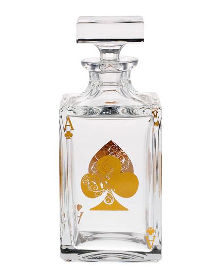 Vista Alegre Poker Whiskey Decanter