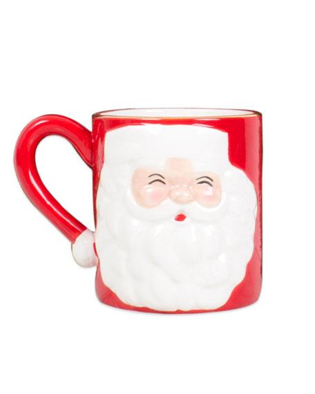 8 Oak Lane Santa Coffee Mugs, Set of 4