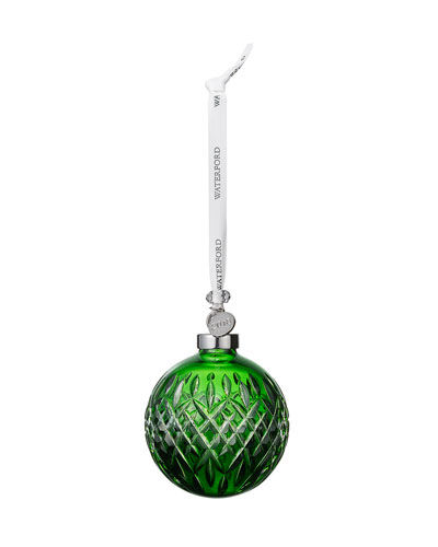 Faceted Ball Ornament  Emerald