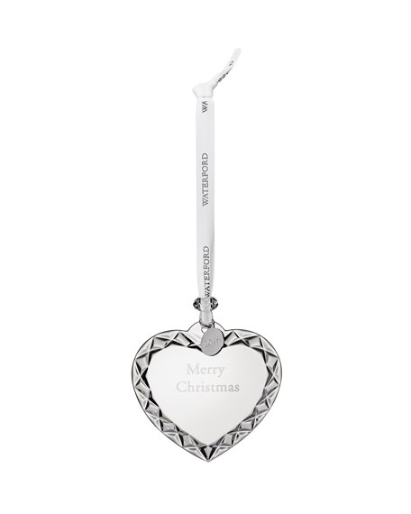 Waterford Crystal Merry Christmas Heart Ornament