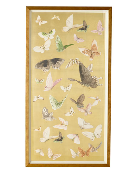"""""""Gilded Butterfly Flight I"""" Giclee Art"""