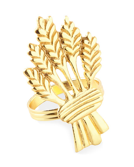 C & F Enterprises Golden Wheat Napkin Rings, Set of 4