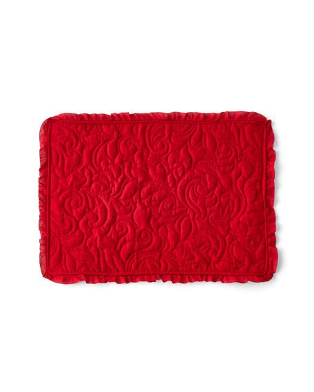 C & F Enterprises Drayton Scarlet Placemats, Set of 4