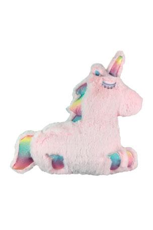 Iscream Furry Rainbow Unicorn Pillow - Vanilla Scented