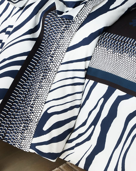 Roberto Cavalli Frame Zebrage King Duvet Cover