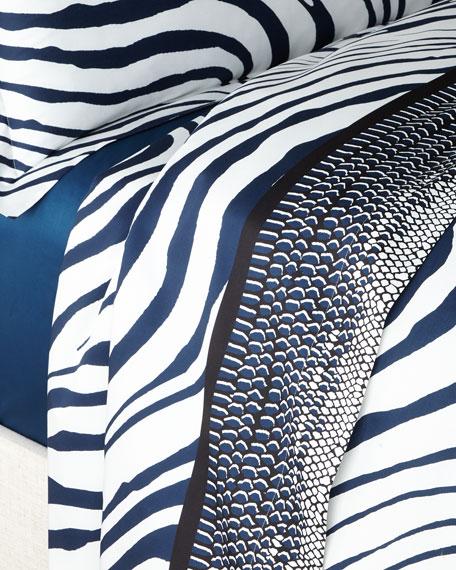 Roberto Cavalli Frame Zebrage King Flat Sheet