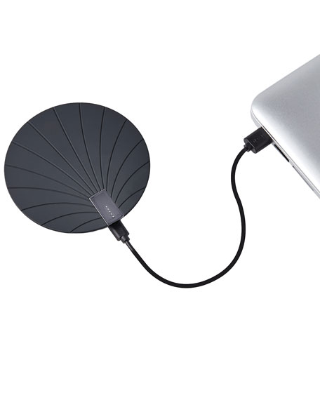 Image 3 of 3: Lexon Design Bali Extra-Slim Wireless Charger with Built-In USB Cord