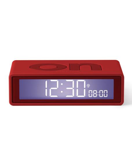 Lexon Design Alarm Clock with Wireless Solar Lamp for Window