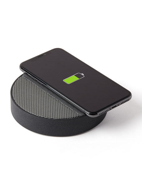 Lexon Design Oslo Energy Wireless Charging Station and Bluetooth Speaker