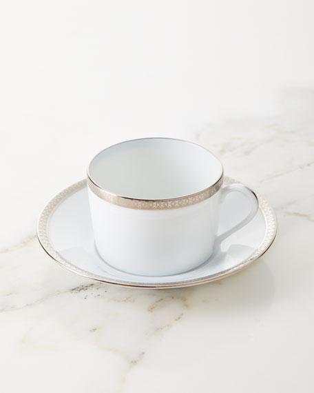 Haviland Symphony Platinum Tea Cup & Saucer Set