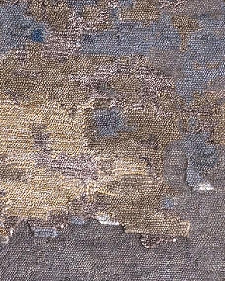 Lili Alessandra Venice Light Blue/Gold Rug, 9' x 12'