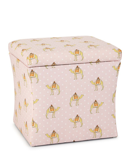 Cloth & Company x Gray Malin Camel Dot Storage Ottoman