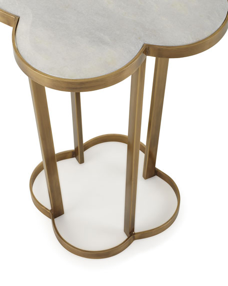 Regina Andrew Design Brass Clover Side Table
