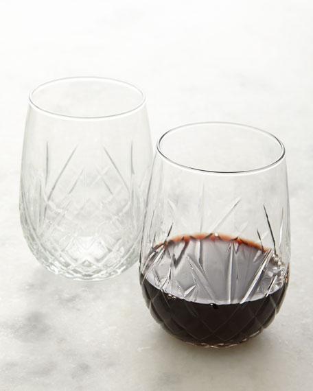 Godinger Dublin Stemless Wine Glasses, Set of 8