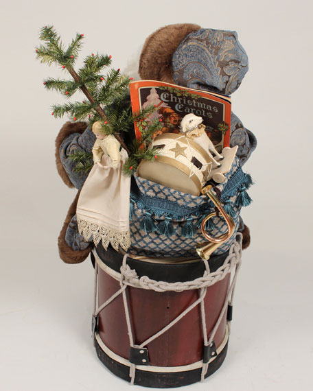 Bethany Lowe Limited Edition Handmade Christmas Noel on Drum