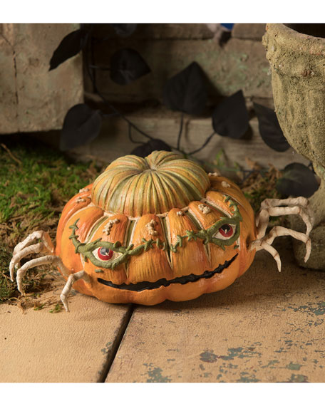 Bethany Lowe Ethans Pumpkin Skelly Spider