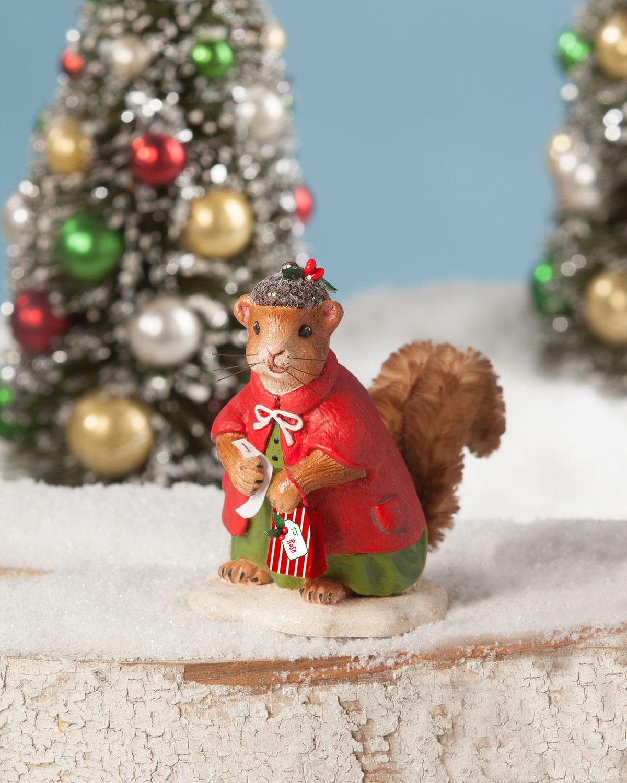 Bethany Lowe Christmas Ornaments.Christmas Shopping Squirrel