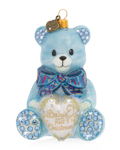 2020 Baby's First Christmas Ornament  Blue