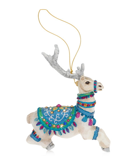 Jay Strongwater Vixen Glass Christmas Ornament
