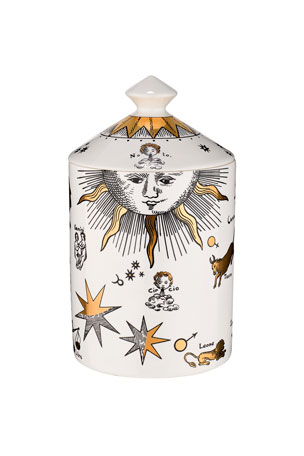 Fornasetti Astronomici Bianco Gold Scented Candle, 10.6 oz./ 300 g