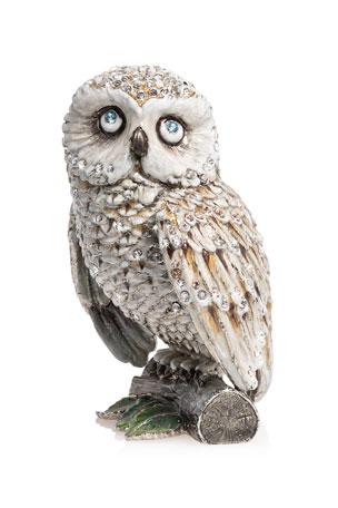 "Jay Strongwater 5"" Snow Owl Figurine"