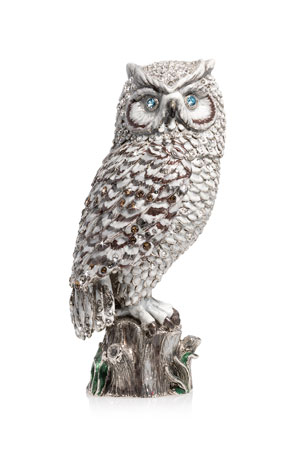 "Jay Strongwater 7"" Snow Owl Figurine"