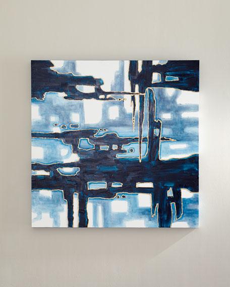 """Blue Rain Drops"" Wall Art"