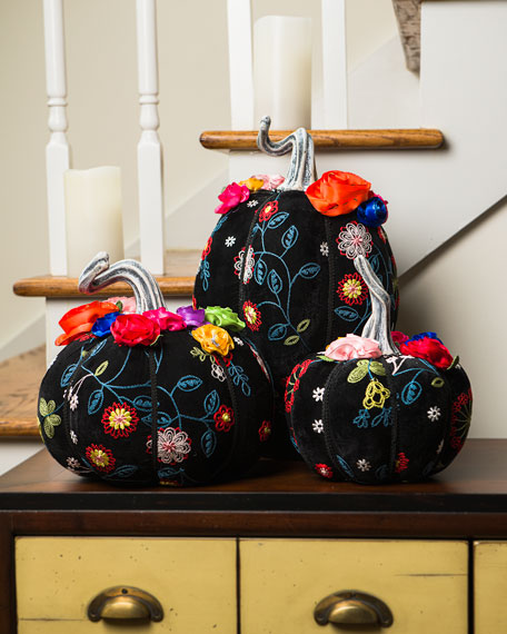 Katherine's Collection Day of the Dead Pumpkins, Set of 3