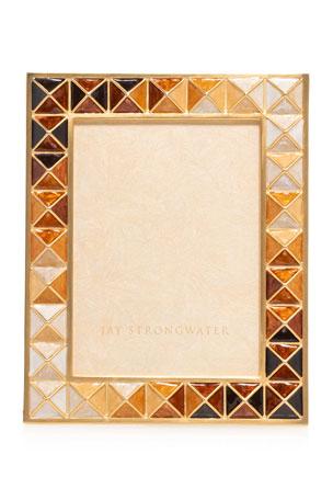 """Jay Strongwater Topaz Pyramid Frame, 3"""" x 4"""""""