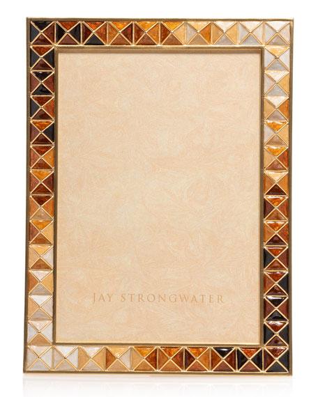 """Jay Strongwater Topaz Pyramid Frame, 5"""" x 7"""""""