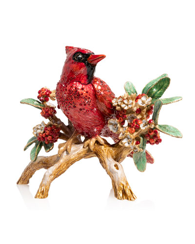 Cardinal on Branch Figurine
