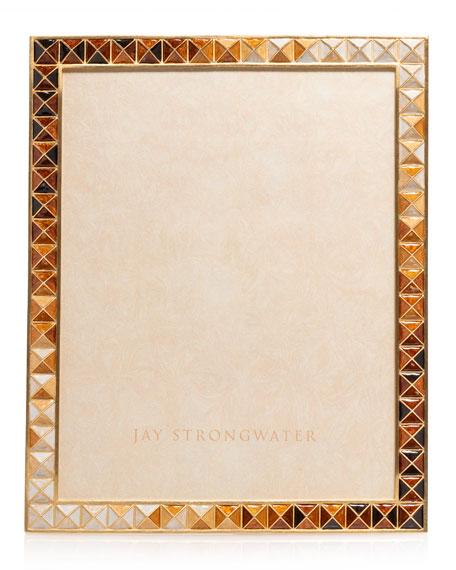 """Jay Strongwater Topaz Pyramid Frame, 8"""" x 10"""""""