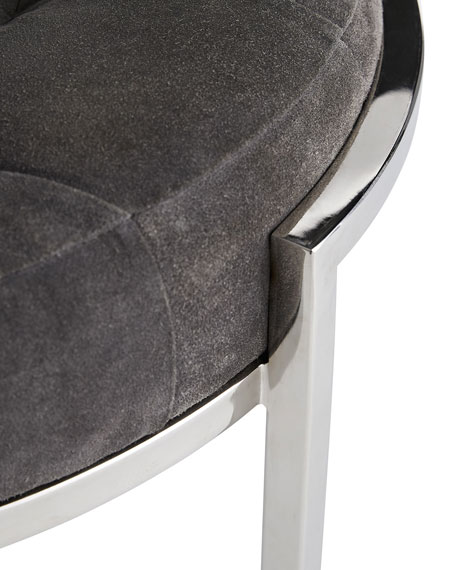 Arteriors Orielle Suede & Stainless Ottoman