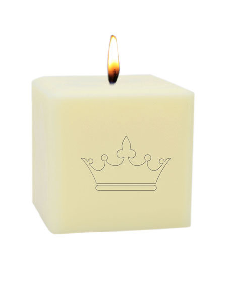 """Carved Solutions 3"""" Eco-Luxury Crown Soy Candle"""