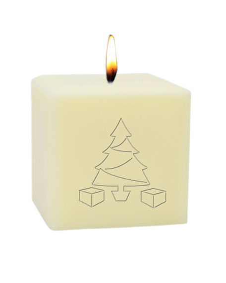 "Carved Solutions 3"" Eco-Luxury Christmas Tree Soy Candle"