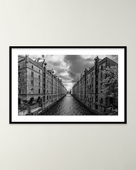 "Four Hands Art Studio ""Hamburg Speicherstadt"" Giclee Art by Stefan Dietze"