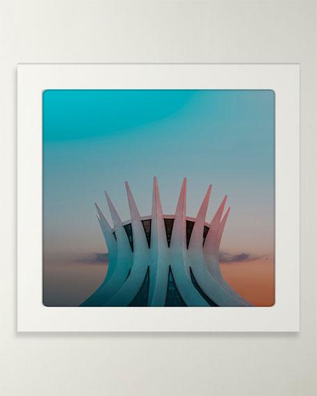 "Four Hands Art Studio ""Cyan #34"" Photo by Oystein Aspelund"