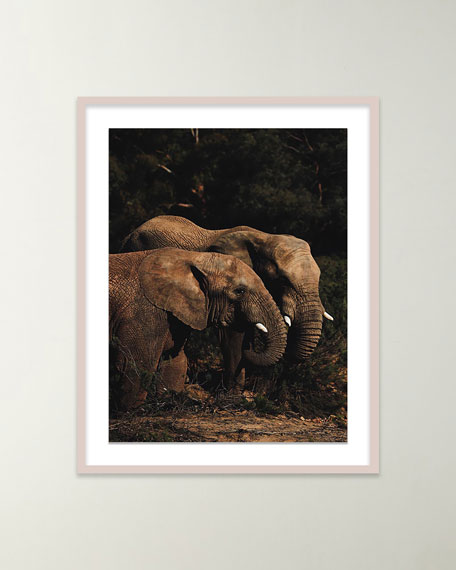 "Four Hands Art Studio ""Safari Elephants I"" Giclee Art by Isabella Juskova"