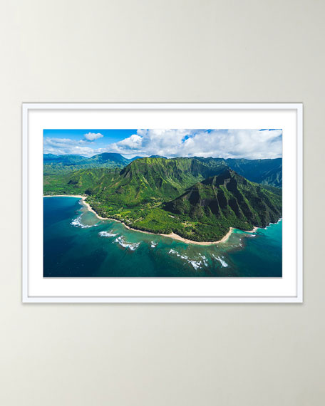 """Four Hands Art Studio """"Hanalei From Above"""" Giclee Art by Brannon Naito"""