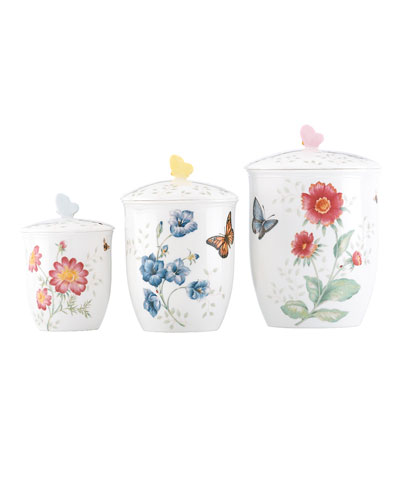 Butterfly Meadow Canisters, Set of 3