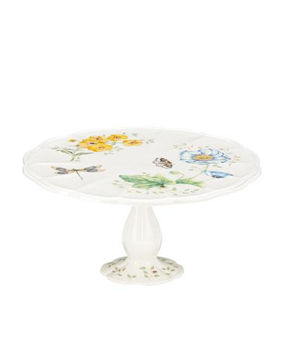 Butterfly Meadow Pedestal Cake Plate