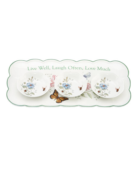 Lenox Butterfly Meadow Sentiment Hors d'Oeuvres Tray