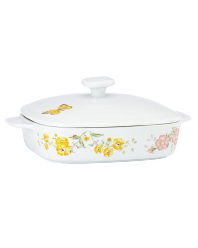 Butterfly Meadow Square Covered Casserole Dish