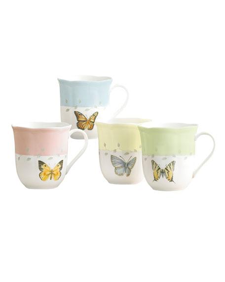 Lenox Butterfly Meadow Dessert Mugs, Set of 4